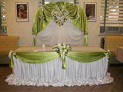 Оформление свадьбы салатовым цветом
