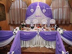 Оформление свадьбы сиреневым цветом