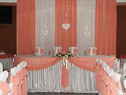 Оформление свадьбы персиковым цветом