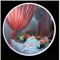 Оформление свадьбы тканями