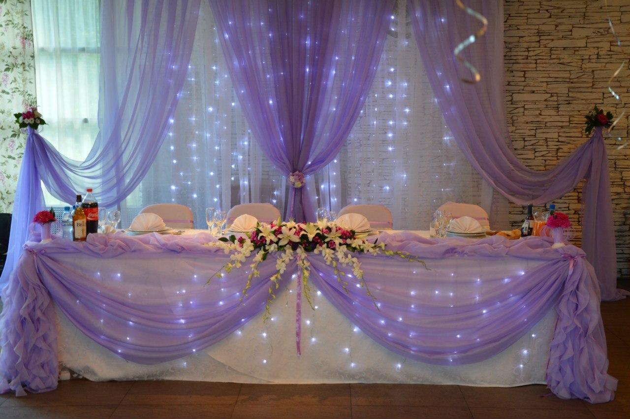 украшение зала на свадьбу тканью видео ноги
