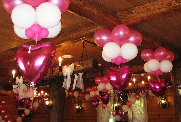 Как украсить шарами юбилподвесной